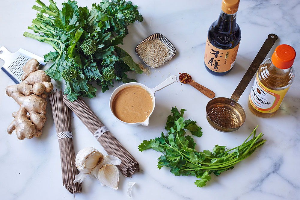 Broccoli Rabe Soba Noodles Ingredients