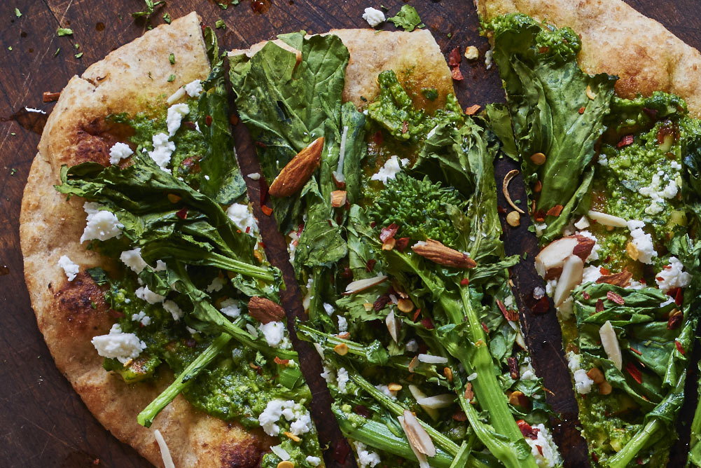 Andy Boy Broccoli Rabe Naan Flatbreads