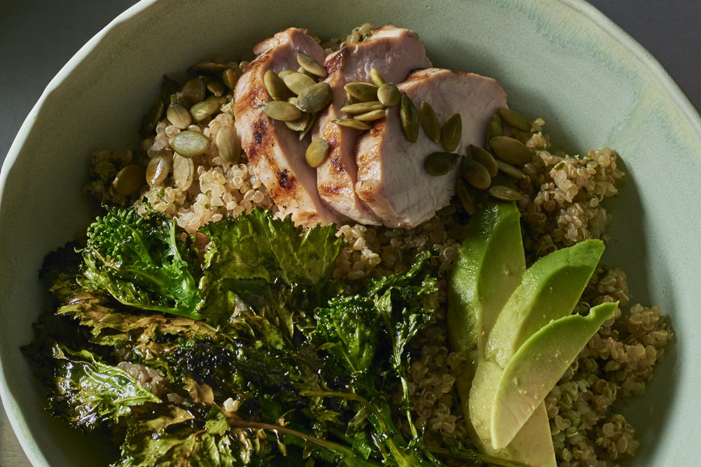 Andy Boy Broccoli Rabe Chicken Quinoa Lemon Bowl