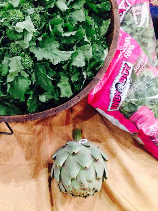 artichoke and broccoli rabe