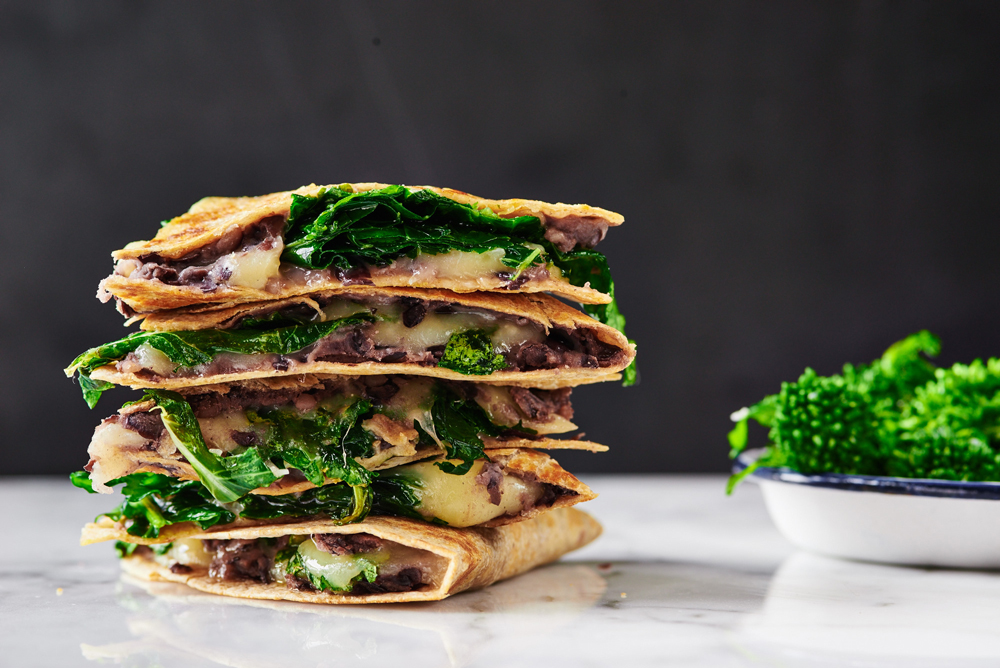 Broccoli Rabe Quesadillas