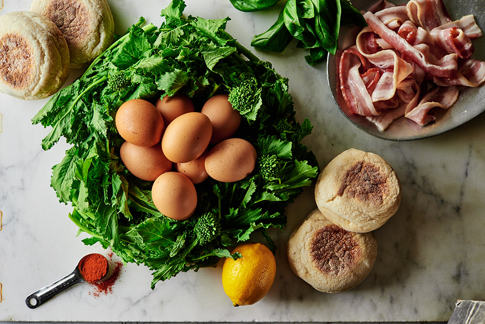 Broccoli Rabe Eggs Benedict