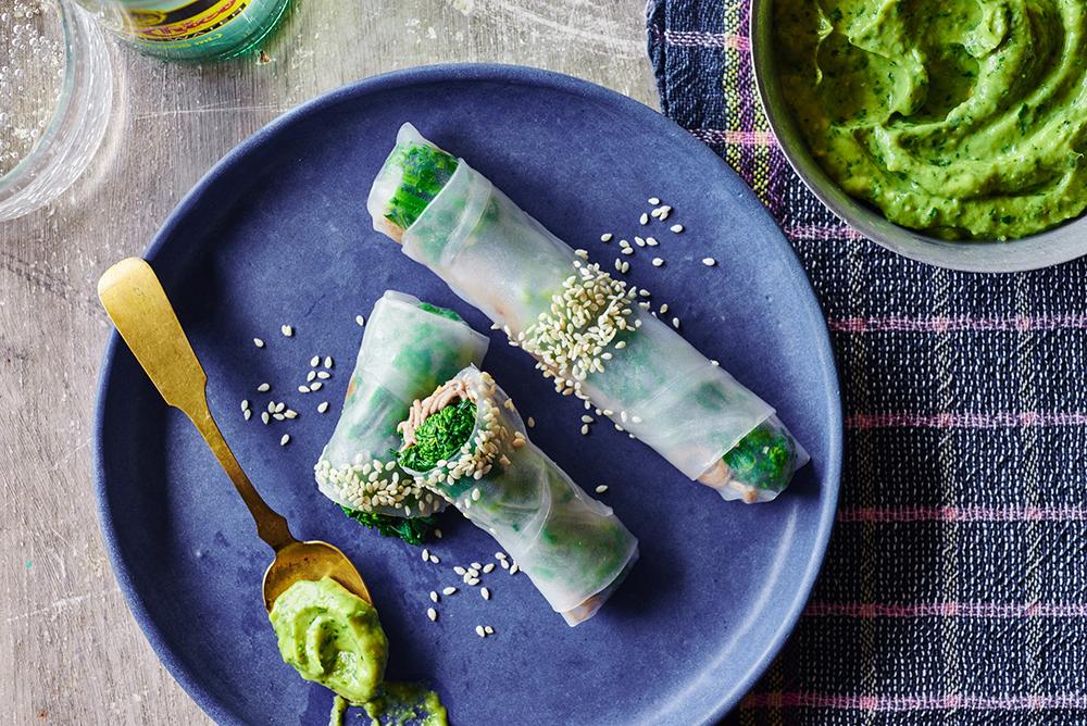 Broccoli Rabe Sesame Spring Rolls