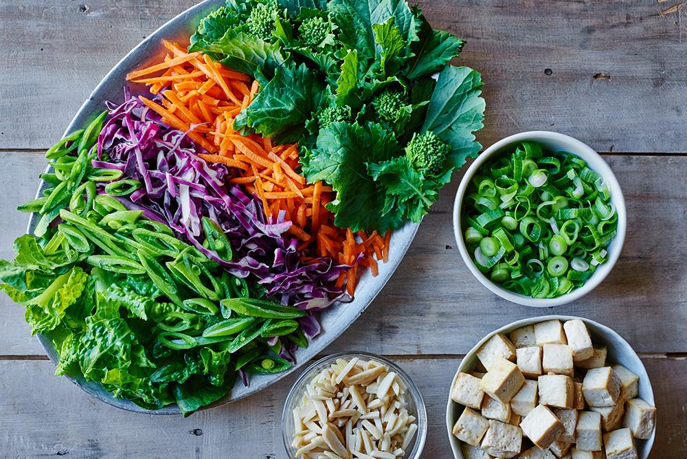 Tofu Chop Salad Ingredients