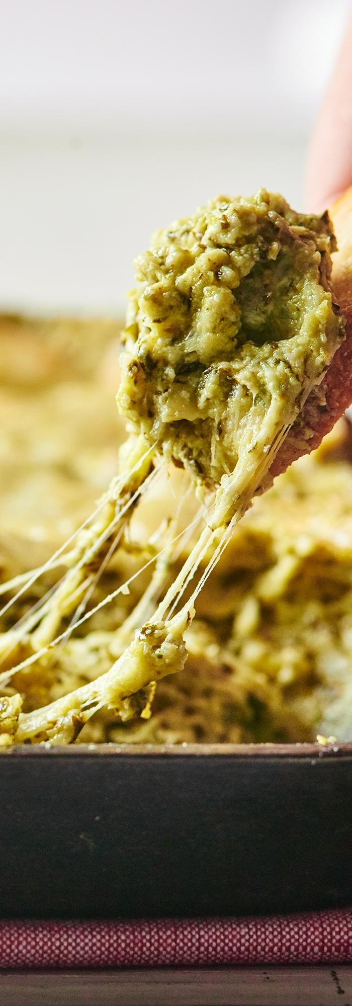 Broccoli Rabe Artichoke Dip