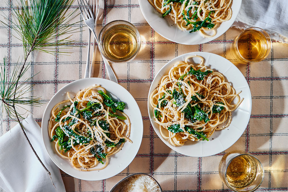Cacio e Pepe with Broccoli Rabe
