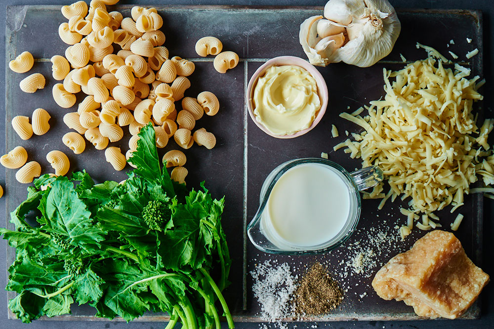 Broccoli Rabe Mac and Cheese Ingredients