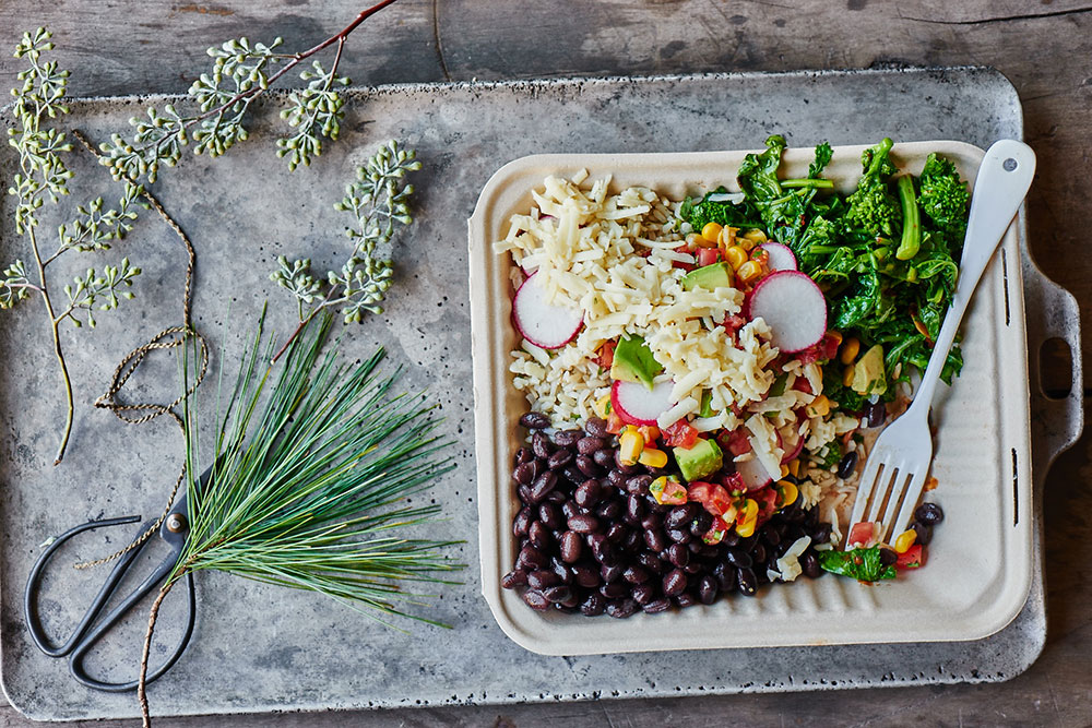 Broccoli Rabe Burrito Bowls with Brown Rice