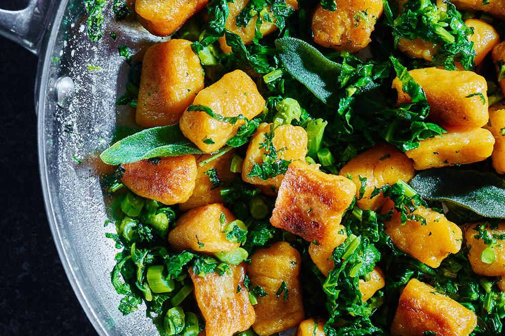 Broccoli Rabe with Sweet Potato Gnocchi