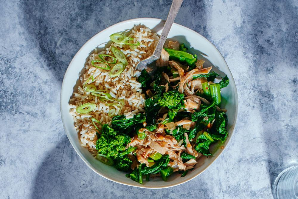 Teriyaki Chicken with Broccoli Rabe