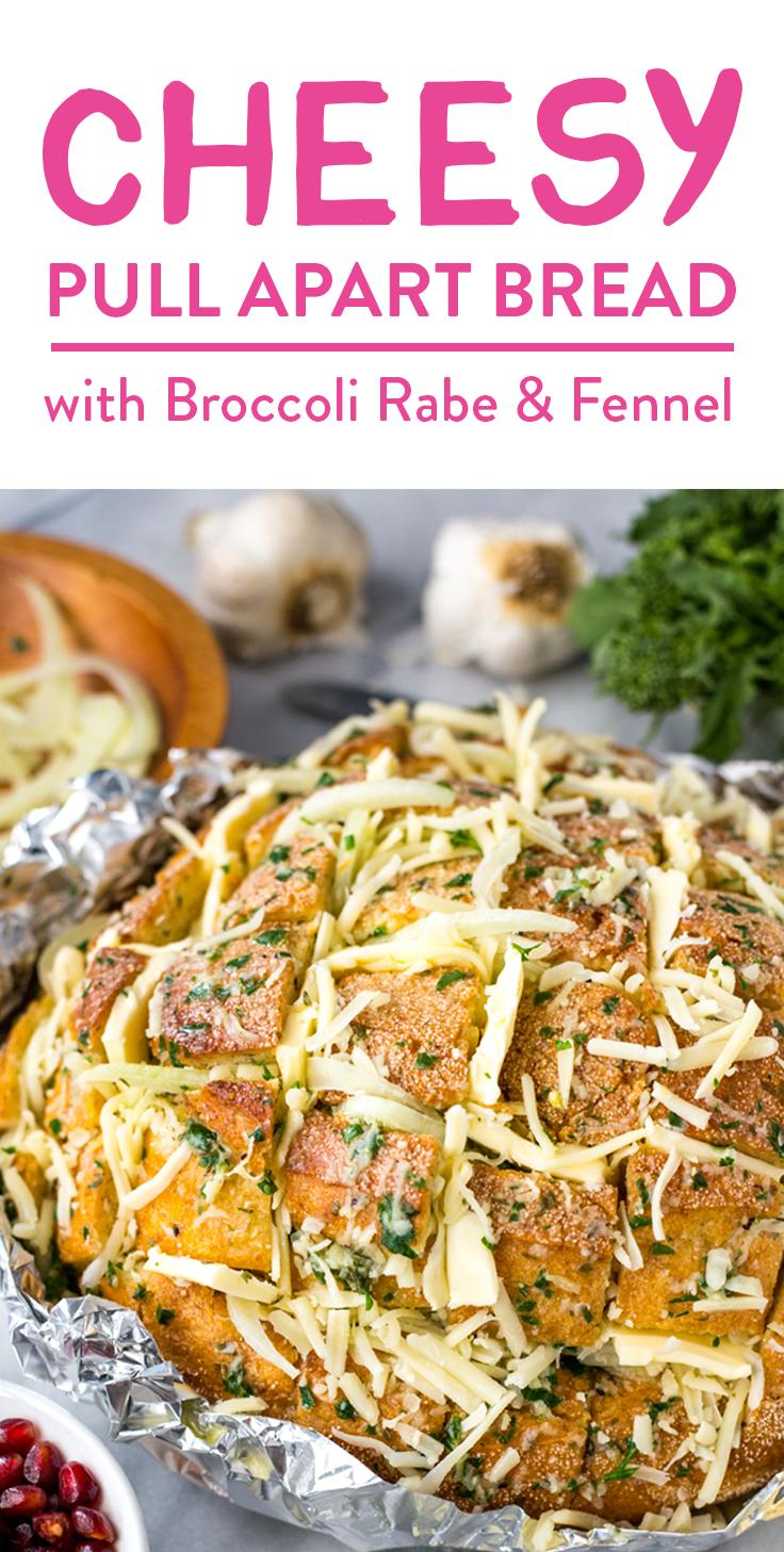 Broccoli Rabe Pull Apart Bread