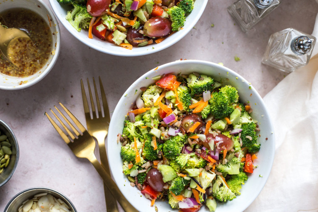 Super Easy Mayo Less Broccoli Salad Andy Boy
